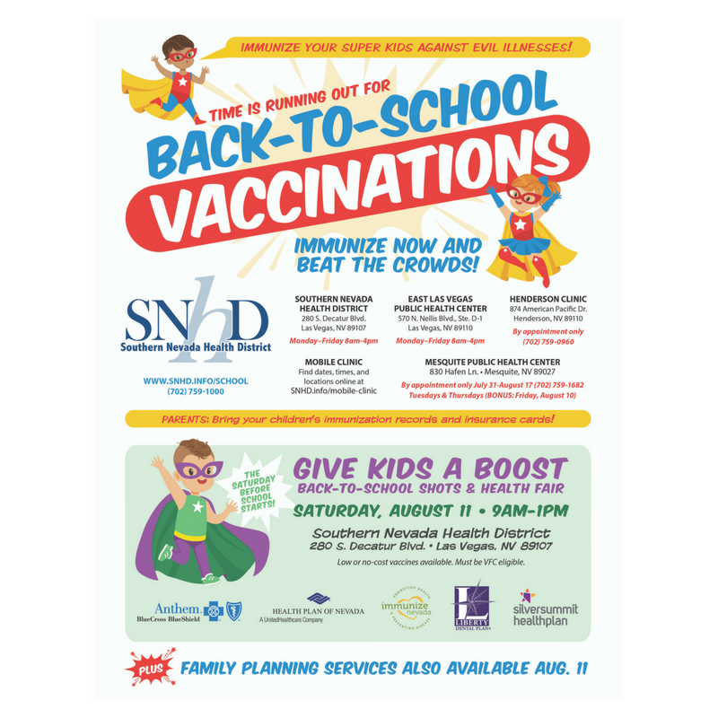 Clark County School District Vaccines - Don't Wait to Vaccinate